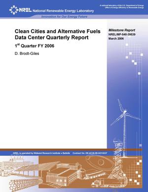 Primary view of object titled 'Clean Cities and Alternative Fuels Data Center Quarterly Report: 1st Quarter FY 2006 (Milestone Report)'.