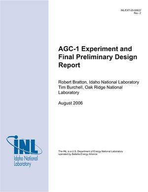 Primary view of object titled 'AGC-1 Experiment and Final Preliminary Design Report'.