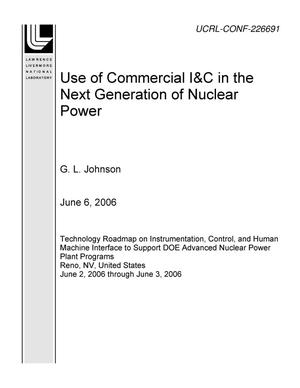Primary view of object titled 'Use of Commercial I&C in the Next Generation of Nuclear Power'.