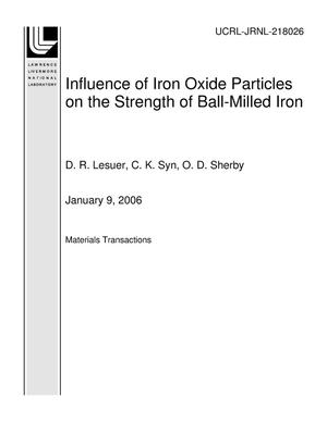 Primary view of object titled 'Influence of Iron Oxide Particles on the Strength of Ball-Milled Iron'.
