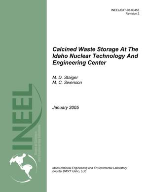 Primary view of object titled 'Calcine Waste Storage at the Idaho Nuclear Technology and Engineering Center'.