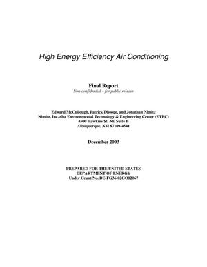 Primary view of object titled 'High Energy Efficiency Air Conditioning'.