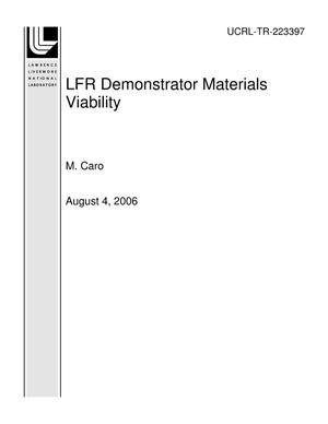 Primary view of object titled 'LFR Demonstrator Materials Viability'.