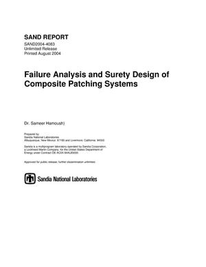 Primary view of object titled 'Failure analysis and surety design of composite patching systems.'.