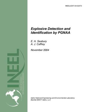 Primary view of object titled 'Explosive Detection and Identification by PGNAA'.