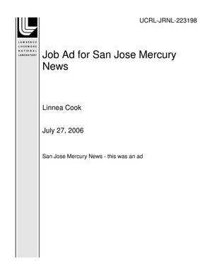Primary view of object titled 'Job Ad for San Jose Mercury News'.