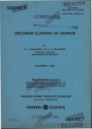Primary view of object titled 'ZIRCONIUM CLADDING OF URANIUM'.
