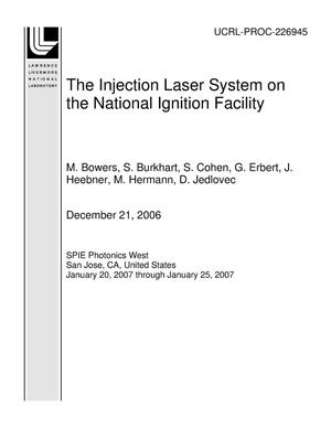 Primary view of object titled 'The Injection Laser System on the National Ignition Facility'.