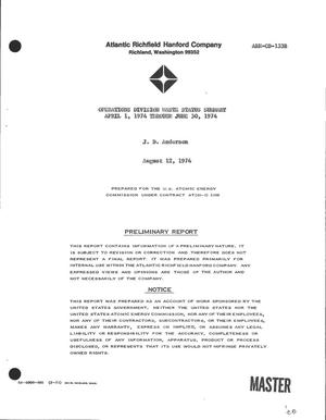 Primary view of object titled 'Operations Division waste status summary. Progress report, 1 April 1974-- 30 June 1974'.