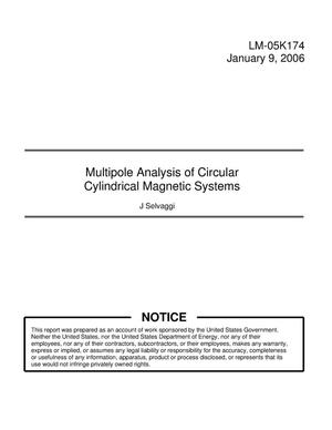 Primary view of object titled 'Multipole Analysis of Circular Cylindircal Magnetic Systems'.