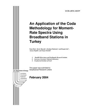 Primary view of object titled 'An Application of the Coda Methodology for Moment-Rate Spectra Using Broadband Stations in Turkey'.