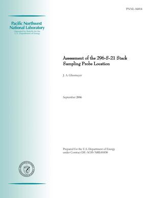 Primary view of object titled 'Assessment of the 296-S-21 Stack Sampling Probe Location'.