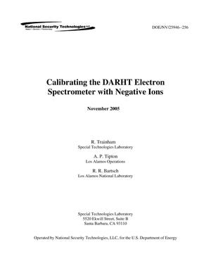 Primary view of object titled 'Calibrating the DARHT Electron Spectrometer with Negative Ions'.