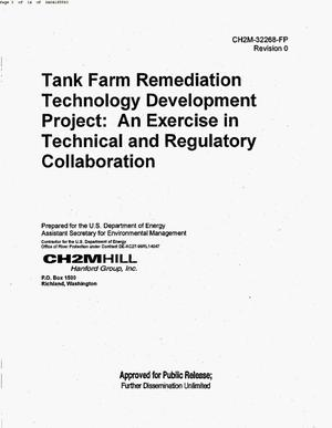 Primary view of object titled 'TANK FARM REMEDIATION TECHNOLOGY DEVELOPMENT PROJECT AN EXERCISE IN TECHNICAL & REGULATORY COLLABORATION'.