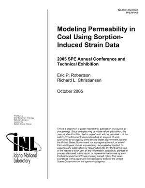 Primary view of object titled 'Modeling Permeability in Coal Using Sorption-Induced Strain Data'.
