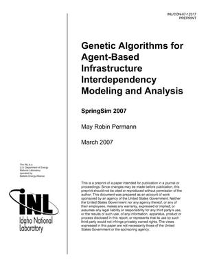 Primary view of object titled 'Genetic Algorithms for Agent-Based Infrastructure Interdependency Modeling and Analysis'.