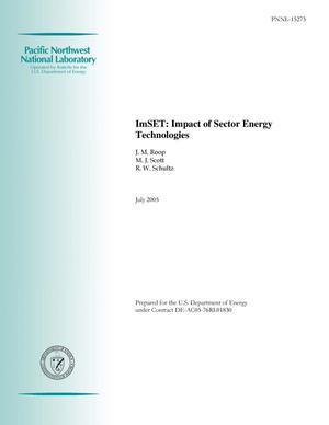 Primary view of object titled 'ImSET: Impact of Sector Energy Technologies'.