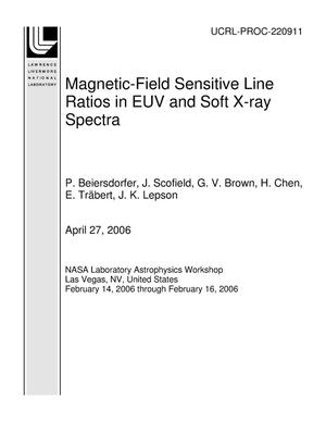 Primary view of object titled 'Magnetic-Field Sensitive Line Ratios in EUV and Soft X-ray Spectra'.