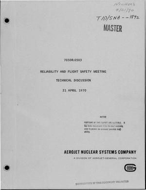 Primary view of object titled 'Reliability and flight safety meeting, technical discussion'.
