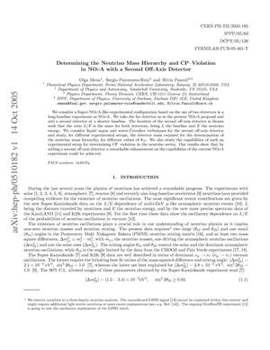 Primary view of object titled 'Determining the neutrino mass hierarchy and CP violation in NoVA with a second off-axis detector'.