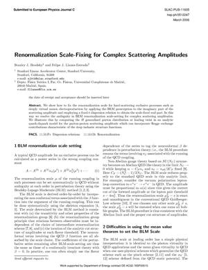 Primary view of object titled 'Renormalization Scale-Fixing for Complex Scattering Amplitudes'.
