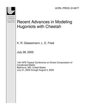 Primary view of object titled 'Recent Advances in Modeling Hugoniots with Cheetah'.