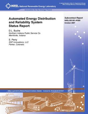 Primary view of object titled 'Automated Energy Distribution and Reliability System Status Report'.