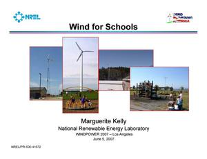 Primary view of object titled 'Wind for Schools (Presentation)'.