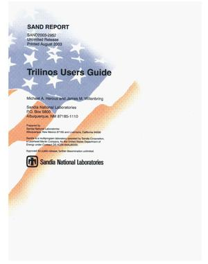 Primary view of object titled 'Trilinos users guide.'.