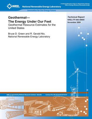 Primary view of object titled 'Geothermal -- The Energy Under Our Feet: Geothermal Resource Estimates for the United States'.