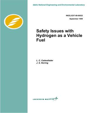 Primary view of object titled 'Safety Issues with Hydrogen as a Vehicle Fuel'.