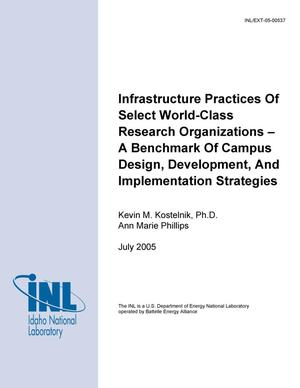 Primary view of object titled 'Infrastructure Practices of Select World-Class Research Organizations - A Benchmark of Campus Design, Development, and Implementation Strategies'.