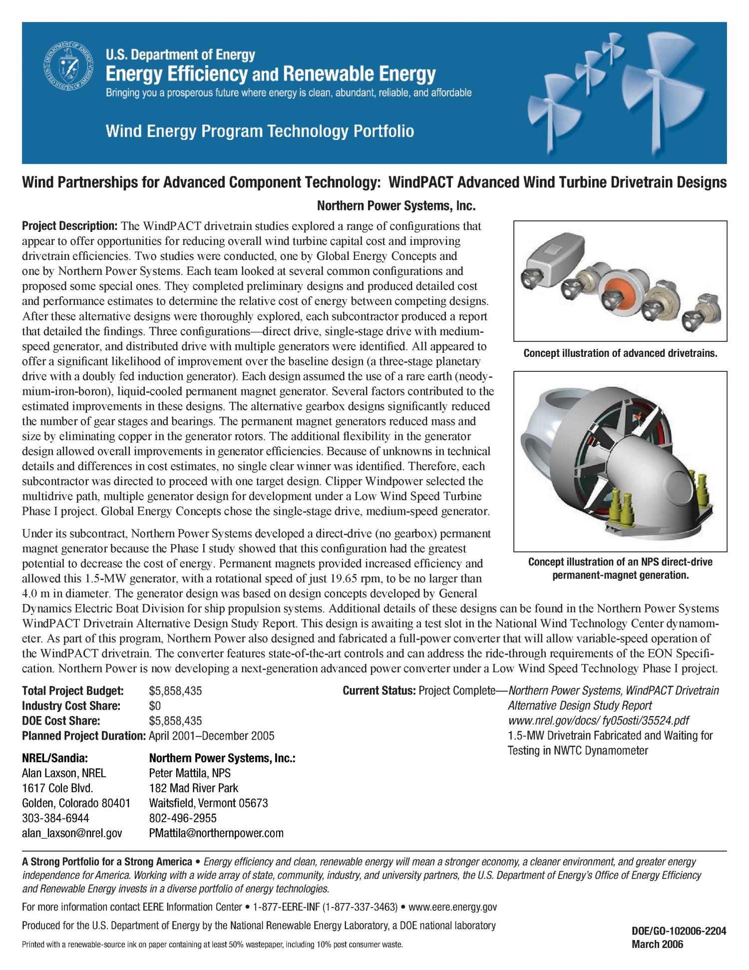 Wind Partnerships for Advanced Component Technology