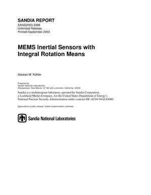 Primary view of object titled 'MEMS inertial sensors with integral rotation means.'.