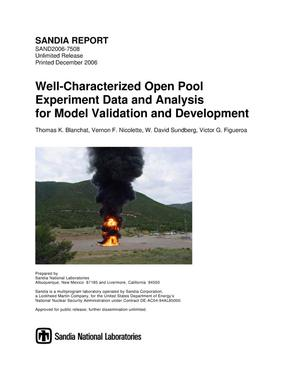 Primary view of object titled 'Well-characterized open pool experiment data and analysis for model validation and development.'.