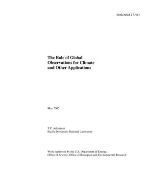 Primary view of object titled 'The Role of Global Observations for Climate and Other Applications'.