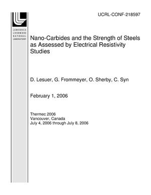 Primary view of object titled 'Nano-Carbides and the Strength of Steels as Assessed by Electrical Resistivity Studies'.