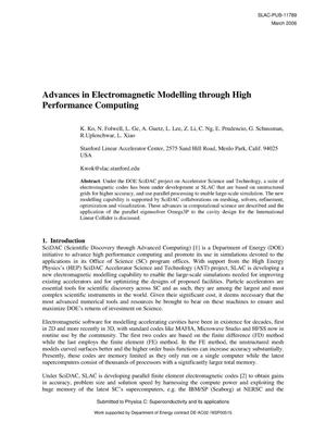 Primary view of object titled 'Advances in Electromagnetic Modelling through High Performance Computing'.