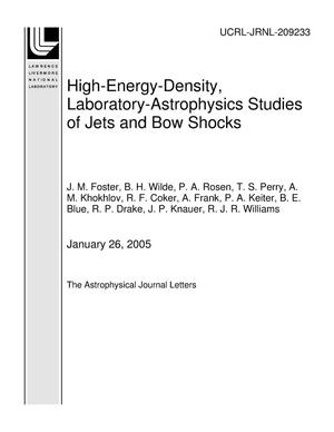 Primary view of object titled 'High-Energy-Density, Laboratory-Astrophysics Studies of Jets and Bow Shocks'.