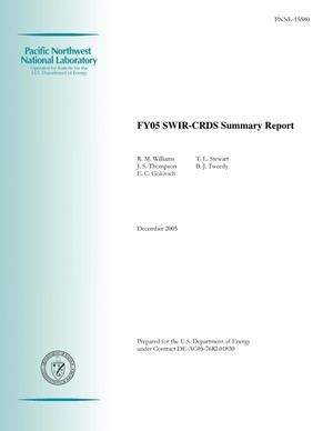 Primary view of object titled 'FY05 SWIR-CRDS Summary Report'.