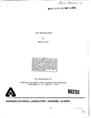 Primary view of object titled 'Fast reactor safety'.