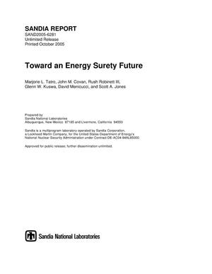Primary view of object titled 'Toward an energy surety future.'.