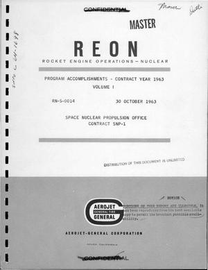 Primary view of object titled 'Program accomplishments, contract year 1963. Volume I'.