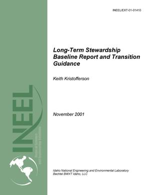 Primary view of object titled 'Long-Term Stewardship Baseline Report and Transition Guidance'.