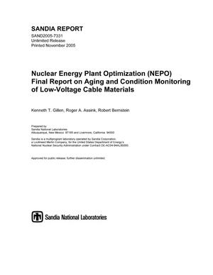 Primary view of object titled 'Nuclear Energy Plant Optimization (NEPO) final report on aging and condition monitoring of low-voltage cable materials.'.
