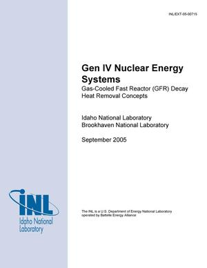 Primary view of object titled 'Gas-Cooled Fast Reactor (GFR) Decay Heat Removal Concepts'.