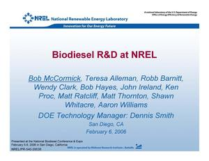 Primary view of object titled 'Biodiesel R&D at NREL'.