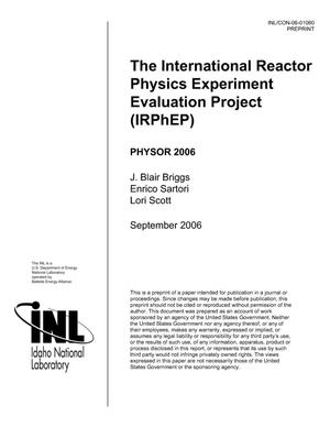 Primary view of object titled 'The International Reactor Physics Experiment Evaluation Project (IRPHEP)'.