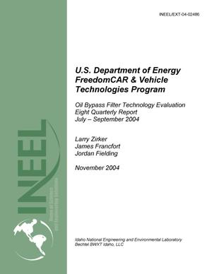 Primary view of object titled 'Oil Bypass Filter Technology Evaluation, Eighth Quarterly Report, July - September 2004'.