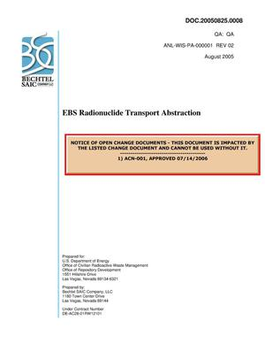 Primary view of object titled 'EBS Radionuclide Transport Abstraction'.
